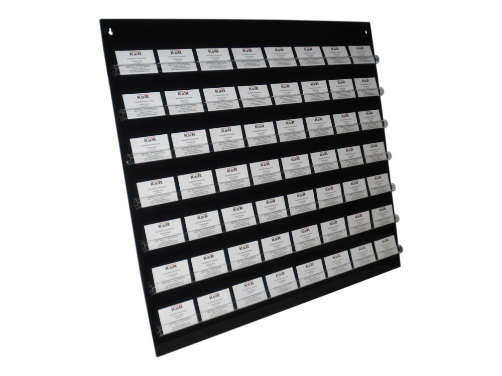 Visitenkartenpresenter Mit 56 Steckplätzen Aus Acrylglas